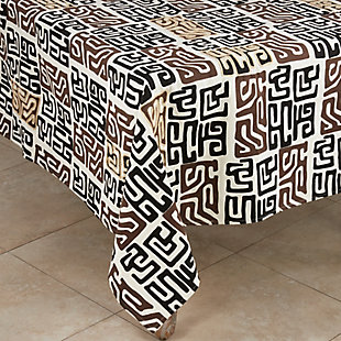 "Saro Lifestyle Cotton Kuba Cloth 57"" Square  Tablecloth, , large"