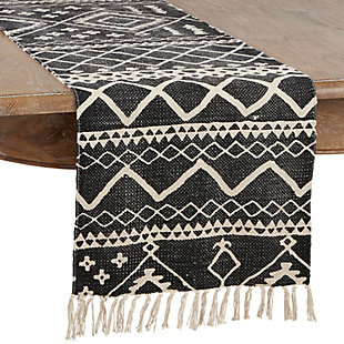 Saro Lifestyle Cotton Mud Cloth 16x72 Table Runner, , large