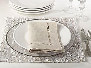 Saro Lifestyle Hemstitched Dinner Napkin (Set of 12), , large