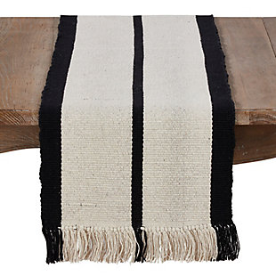 Saro Lifestyle 100% Cotton 16x72 Runner with Heavy Rug Design, , large