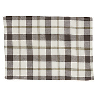 Saro Lifestyle Plaid Design Cotton Placemat (Set of 4), , large