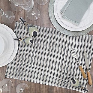 Saro Lifestyle Table Placemat with Corded Line Design (Set of 4), , rollover