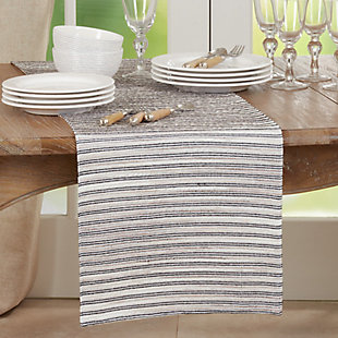 Saro Lifestyle 16x72 Table Runner with Corded Line Design, , rollover