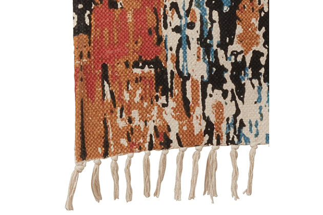 Saro Lifestyle 16x72 Rug Runner with Distressed Design, , large