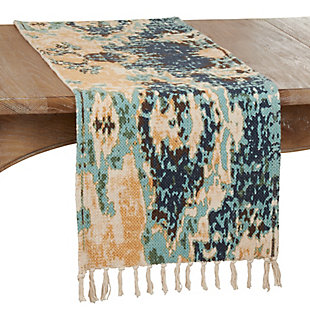 Saro Lifestyle 16x72 Cotton Rug Runner with Distressed Design, , large