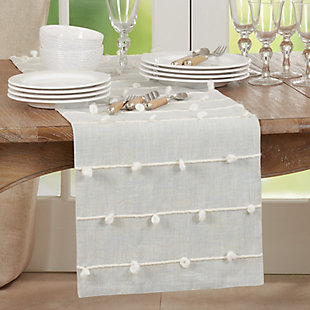 Saro Lifestyle 16x72 Table Runner with Knotted Line Design, , rollover