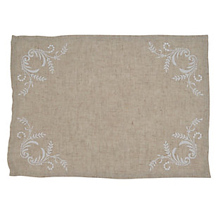 Saro Lifestyle Elegant Placemat with Embroidered Design (Set of 4), , large