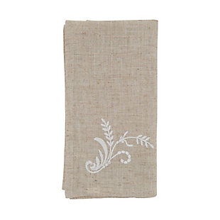 Saro Lifestyle Cloth Table Napkin with Embroidered Design (Set of 4), , large