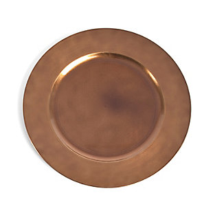 Saro Lifestyle Classic Design Charger (Set of 4), Bronze, large
