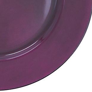 Saro Lifestyle Classic Design Charger (Set of 4), Purple, large