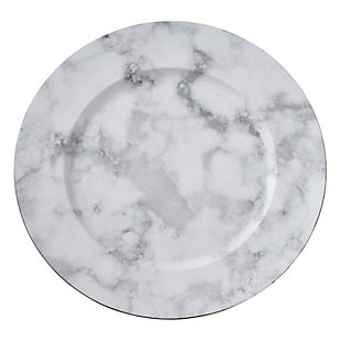 Saro Lifestyle Marble Design Table Charger (Set of 4), , large