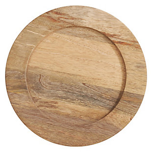 Saro Lifestyle Wood Charger (Set of 4), , large