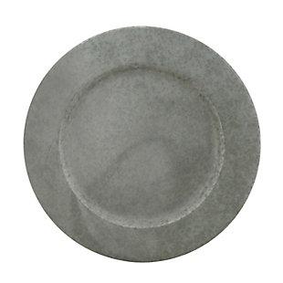 Saro Lifestyle Galvanized Metal Charger Plate (Set of 4), , large