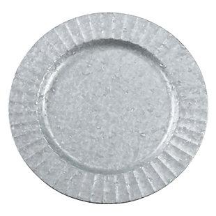 Saro Lifestyle Ruffled Galvanized Table Charger (Set of 4), , large