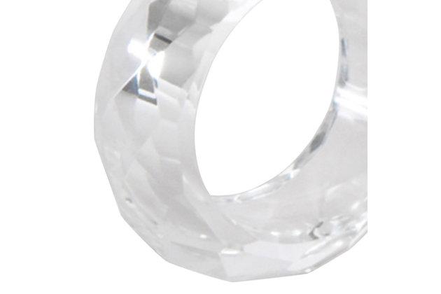 Saro Lifestyle Crystal Napkin Ring (Set of 4), , large