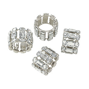 Saro Lifestyle Jeweled Gem Stone Napkin Ring (Set of 4), , large