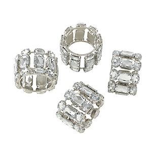 Saro Lifestyle Jeweled Gem Stone Napkin Ring (Set of 4), , large