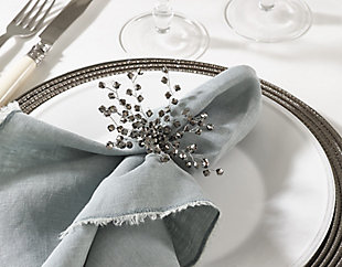 Saro Lifestyle Napkin Ring Collection Beaded Napkin Ring (Set of 4), , rollover