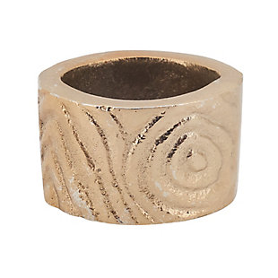 Saro Lifestyle Napkin Ring with Wood Grain Pattern (Set of 4), , large