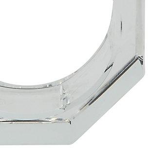 Saro Lifestyle Glass Crystal Octagonal Facet Napkin Ring (Set of 4), , large