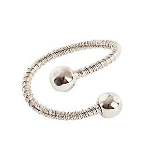 Saro Lifestyle Curled Design Napkin Ring (Set of 4), , large
