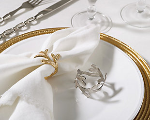 Saro Lifestyle Vine Design Napkin Ring Vine Napkin Ring (Set of 4), Gold, rollover