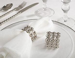 Saro Lifestyle Link Design Napkin Ring (Set of 4), , rollover