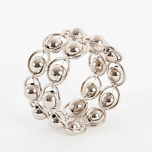 Saro Lifestyle Link Design Napkin Ring (Set of 4), , large
