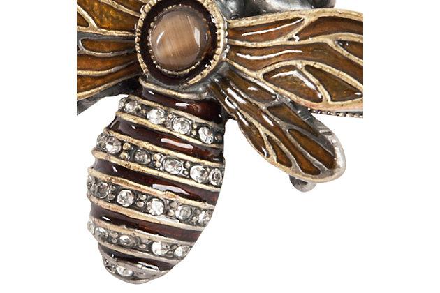Saro Lifestyle Bumble Bee Napkin Ring (Set of 4), , large