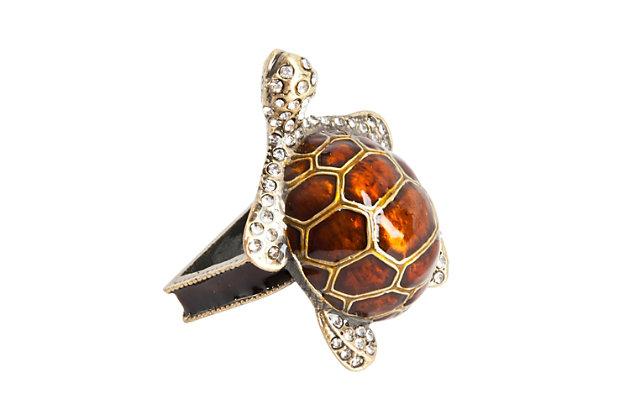 Saro Lifestyle Turtle Napkin Ring (Set of 4), , large