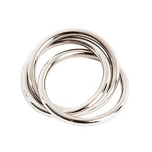 Saro Lifestyle Three Ring Design Napkin Ring (Set of 4), , large
