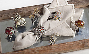 Saro Lifestyle Ladybug Napkin Ring (Set of 4), , rollover