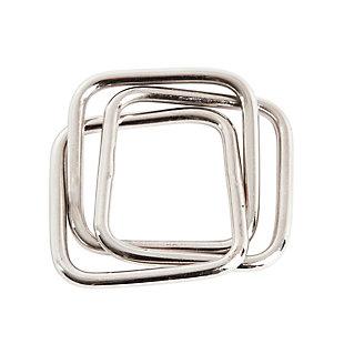 Saro Lifestyle Three Squares Design Napkin Ring (Set of 4), , large