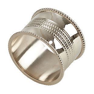 Saro Lifestyle Vintage Style Napkin Ring with Dotted Design (Set of 4), , large