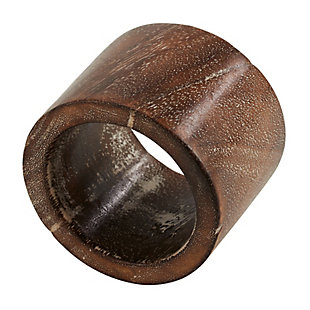 Saro Lifestyle Napkin Ring with Wood Design (Set of 4), , large