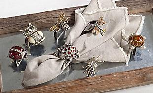 Saro Lifestyle Owl Napkin Ring (Set of 4), , rollover