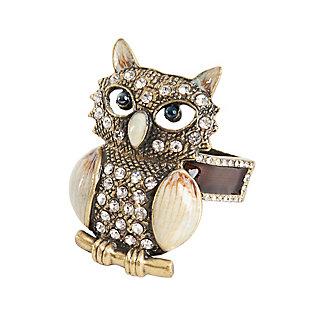 Saro Lifestyle Owl Napkin Ring (Set of 4), , large