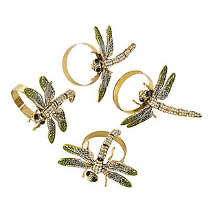Saro Lifestyle Jeweled Dragonfly Napkin Ring (Set of 4), , large