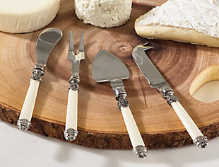 Saro Lifestyle Cheese Set with Antique Handles (Set of 4), , rollover