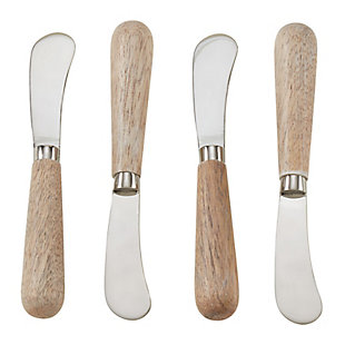 Saro Lifestyle Wood Handle 4-Piece Cocktail Knife Set, , large