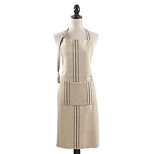 Saro Lifestyle Front Pocket Striped Linen Apron, , large