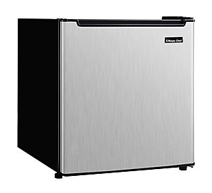 Magic Chef 1.7-Cu. Ft. Mini Refrigerator, Stainless Steel, rollover
