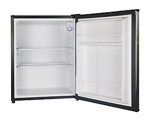 Magic Chef 2.4-Cu. Ft. Mini Refrigerator, Stainless Steel, rollover