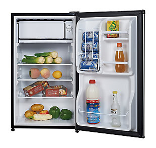 Magic Chef 3.5-Cu. Ft. Compact Refrigerator/Freezer, Stainless Steel, rollover