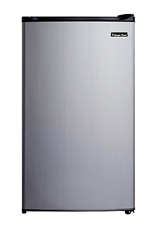 Magic Chef 3.5-Cu. Ft. Compact Refrigerator/Freezer, Stainless Steel, large