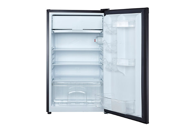 Magic Chef 4.4-Cu. Ft. Compact Refrigerator/Freezer, Black, large