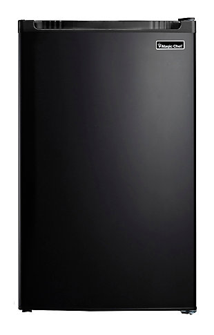 Magic Chef 4.4-Cu. Ft. Compact Refrigerator/Freezer, Black, large