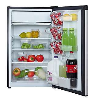 Magic Chef 4.4-Cu. Ft. Compact Refrigerator/Freezer, Stainless Steel, large