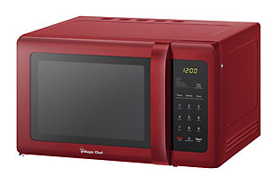 Magic Chef 0.9-Cu. Ft. 900W Countertop Microwave Oven, Red, rollover
