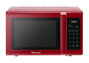 Magic Chef 0.9-Cu. Ft. 900W Countertop Microwave Oven, Red, large